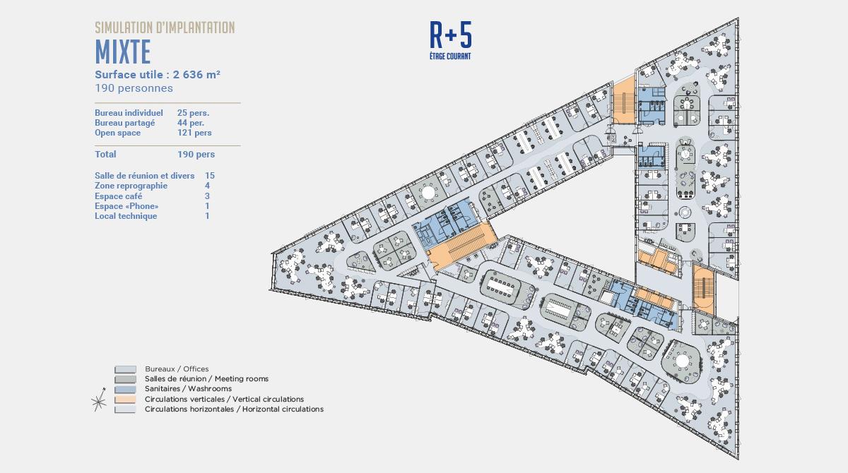 citylife immeuble immeuble simulation mixte 1 - Immeuble